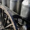 Amish milk cans