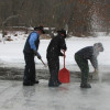 Harvesting Ice in Amish Ohio