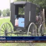 Heuvelton Amish To Nearly Double Safety Tape on Buggies