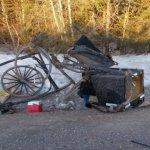 PEI Amish Buggy Annihilated; Driver Amazingly Uninjured