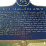 The First Amish Settlement in Canada