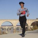 Leroy Stoltzfus Runs 3-Hour Marathon in Amish Clothing