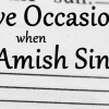 5 Occasions When Amish Sing