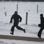 Amish Youth Snowball Fight (10 Photos)