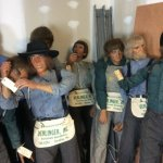 40 Life-Sized Amish Wax Figures For Sale