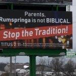 "Who Put Up This ""Anti-Rumspringa"" Billboard?"