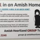 Eat A Meal In An Amish Home (Holmes County, Ohio)