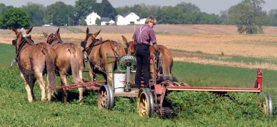 amish farm technology