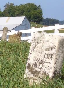 amish gravestone