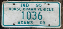 amish license plate