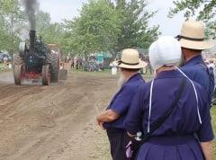 michigan amish steam engine